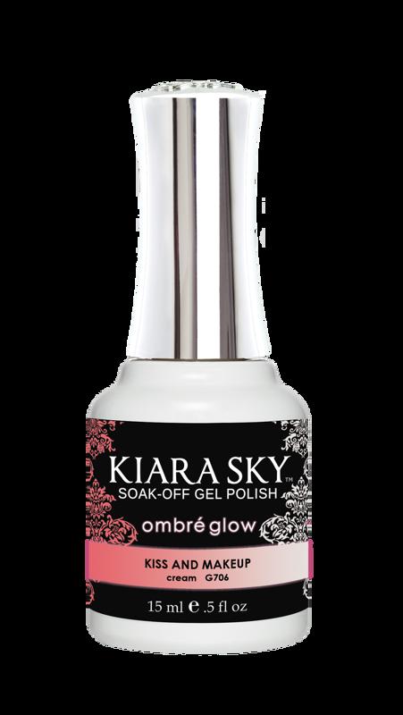 kiara sky gel polish g706 kiss and makeup hybrid nail
